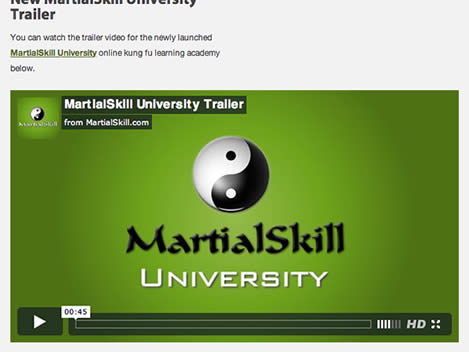 New MartialSkill University Trailer
